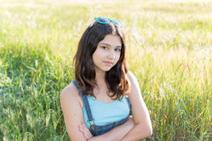 Portrait of teen girl outdoors. Portrait of a teen girl outdoors in summer Royalty Free Stock Photos