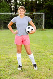 Portrait of teen girl soccer player Royalty Free Stock Images