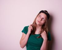 Portrait of a teen girl Royalty Free Stock Photography