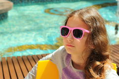 Portrait teen girl in sunglasses Stock Photography