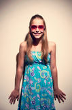 Portrait of a teen girl with sunglasses Stock Photo