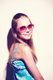 Portrait of a teen girl with sunglasses Royalty Free Stock Image