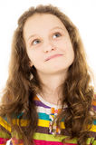 Portrait of teen girl thinks Royalty Free Stock Photography