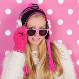 Portrait teen girl in winter Royalty Free Stock Image