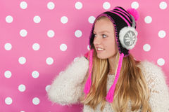 Portrait teen girl in winter Royalty Free Stock Photography