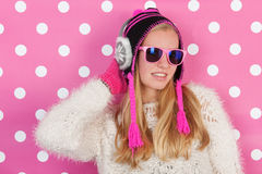 Portrait teen girl in winter Royalty Free Stock Photo