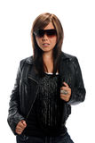 Portrait of Teen With Sunglases Stock Image