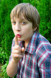 Portrait of teenage boy Stock Photography