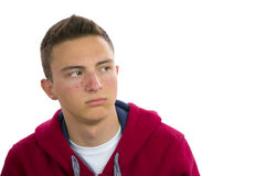 Portrait of teenage boy with acne Stock Images