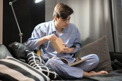 Young Man Chilling at Home royalty free stock photo