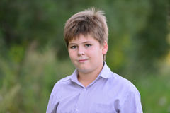 Portrait of a teenage boy in the nature at summer Royalty Free Stock Photography
