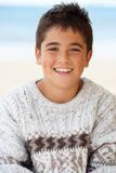 Portrait teenage boy outdoors Royalty Free Stock Image