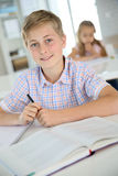 Portrait of a teenage boy at school royalty free stock images