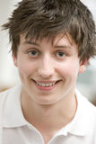 Portrait Of Teenage Boy Smiling Stock Image