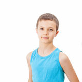 Portrait of a teenage boy in a tank top. Portrait of a charming teenage boy in a tank top Royalty Free Stock Photo