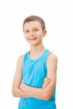 Portrait of a teenage boy in a tank top. Portrait of a charming teenage boy in a tank top Royalty Free Stock Photos