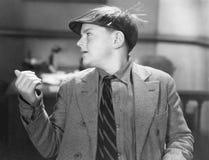Portrait of teenage boy wearing visor Stock Photography