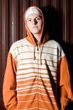 Portrait of teenage criminal Stock Photo