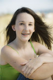 Portrait of Teenage Girl  at the Beach Stock Images