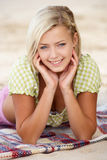 Portrait teenage girl on beach Royalty Free Stock Images