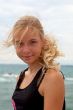 Portrait of teenage girl at the beach Royalty Free Stock Image