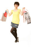Portrait Of Teenage Girl Carrying Shopping Bags Royalty Free Stock Photo