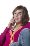 Portrait of a teenage girl and cellphone Stock Photography