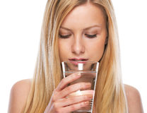 Portrait of teenage girl drinking water Royalty Free Stock Image