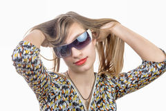 Portrait of a teenage girl with glasses Stock Photo
