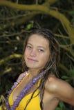 Portrait of a teenage girl in hawaii Stock Photo