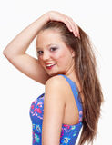 Portrait of a Teenage Girl with Long Brown Hair Royalty Free Stock Photography