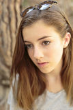 Portrait of teenage girl with natural light Stock Photography