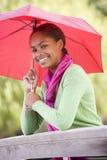 Portrait Of Teenage Girl Outdoors Stock Image