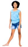 Portrait of teenage girl posing Stock Image