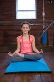 Portrait of teenage girl practicing yoga Stock Photo