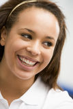 Portrait Of Teenage Girl Smiling Stock Image