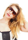 Portrait of a Teenage Girl with Sunglasses Royalty Free Stock Image