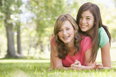 Portrait Of Teenage Girls Royalty Free Stock Photo