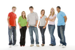 Portrait Of Teenage Girls And Boys stock photo