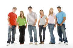 Portrait Of Teenage Girls And Boys Stock Photography