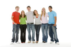 Portrait Of Teenage Girls And Boys Royalty Free Stock Photo