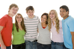 Portrait Of Teenage Girls And Boys Stock Images