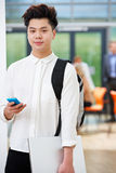 Portrait Of Teenage Male Student In Classroom Royalty Free Stock Images