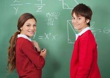 Portrait Of Teenage School Students Standing Stock Photos