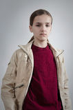 Portrait of teenager in casual clothing Royalty Free Stock Photography