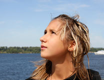 Portrait of the  teenager girl Royalty Free Stock Photography