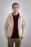 Portrait of teenager with hands in pockets Stock Images