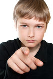 Portrait of a teenager isolated on a white Royalty Free Stock Photos