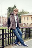 Portrait of teenager in  jacket Royalty Free Stock Images