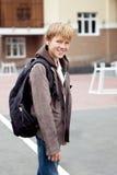 Portrait of teenager in  jacket Stock Photo
